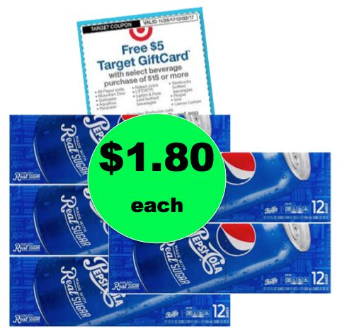 Party Stock Up Time! Pick Up $1.80 Pepsi Product 12 Packs at Target! ~Ends Saturday!