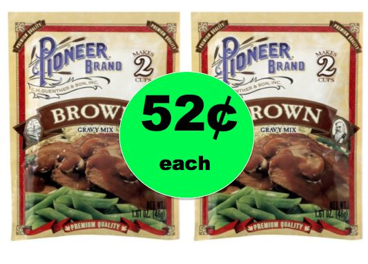 Pour It On! Get 52¢ Pioneer Brand Brown Gravy Mixes at Target! Happening Now!