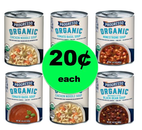 Pick Up Progresso Organic Soup ONLY 20¢ Each at Winn Dixie! ~ Starts Tomorrow!