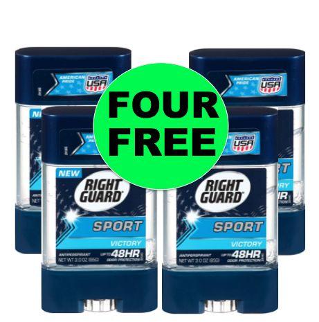 FOUR (4!) FREE Right Guard Sport Deodorant at Winn Dixie! ~ Starts Today!