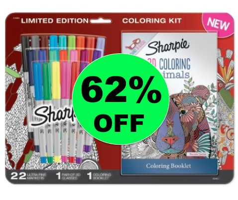 Save 62% Off Sharpie 3D Animals Coloring Kit at Target! ~Going On Now!