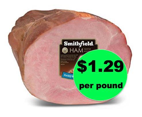 Get Smithfield Shank Portion Ham $1.29/lb at Winn Dixie! ~ Right Now!