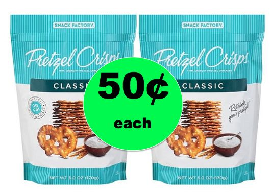 Don't Miss Snack Factory Pretzel Crisps for 50¢ Each at Winn Dixie! ~Ends Tomorrow!