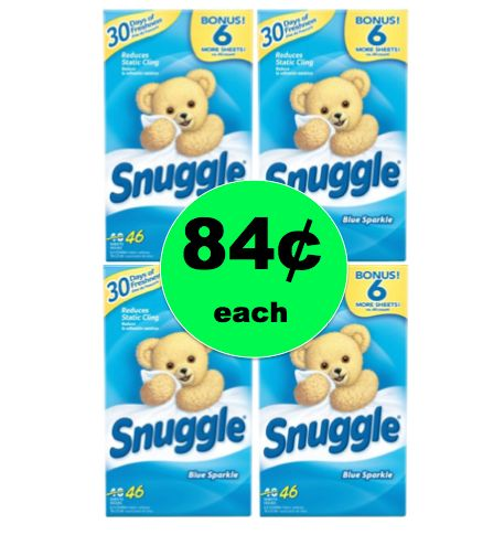 Great Smelling Laundry for Cheap with 84¢ Snuggle Dryer Sheets at Walmart! ~Ends Saturday!