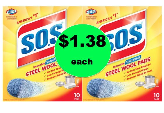 Great for Cleanup! Pick Up $1.38 S.O.S. Pads at Walmart!~ NOW!