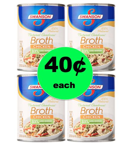 Stock Up on Swanson Chicken Broth ONLY 40¢ Each at Walgreens! ~Right Now!