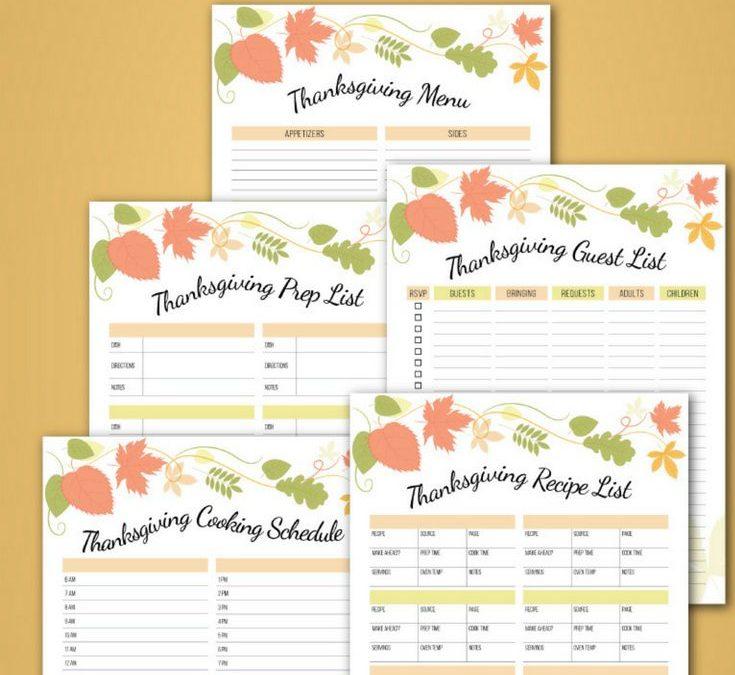 FREE Thanksgiving Planner Printable!
