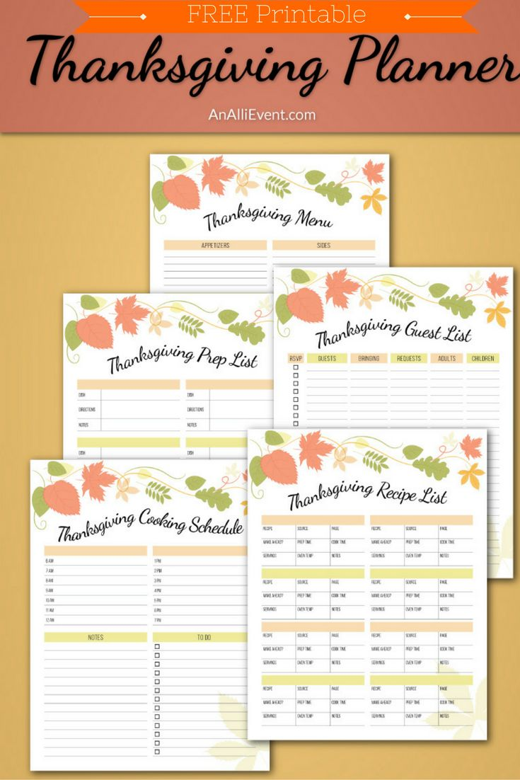 FREE Thanksgiving Planner Printable!