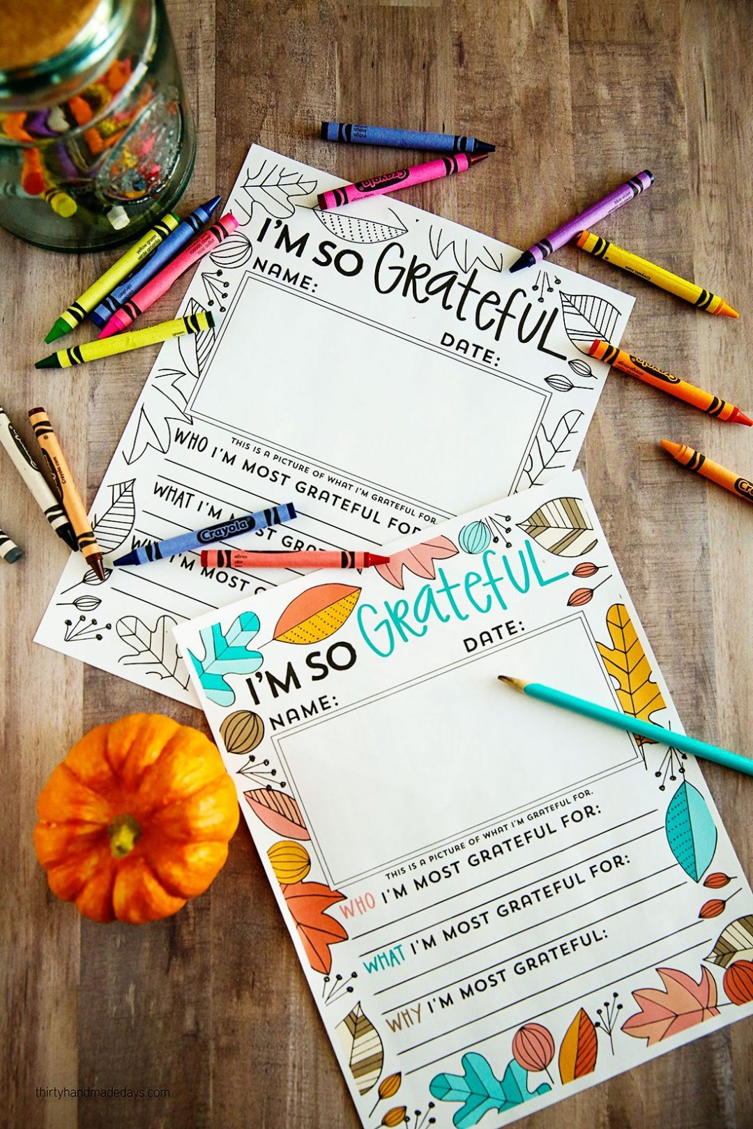 "FREE ""I'm Grateful For…"" Thanksgiving Printable!"