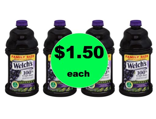 Kids Need Juice? Get Welch's Grape Juice Only $1.50 Each at Winn Dixie! ~Right Now!