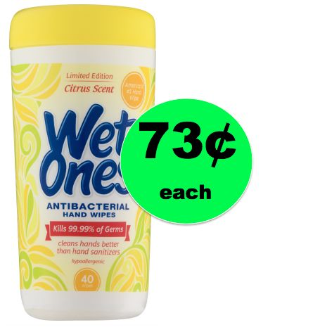 Price Drop! Bye Bye Germs with 73¢ Wet Ones Wipes at Walmart! ~NOW!