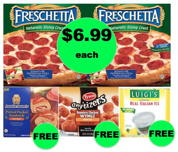Winn Dixie Meal Deal: Buy (2) Freschetta Pizzas, Get Tyson Chicken, Pretzel Pockets & Italian Ice FREE! (11/24 – 11/28)
