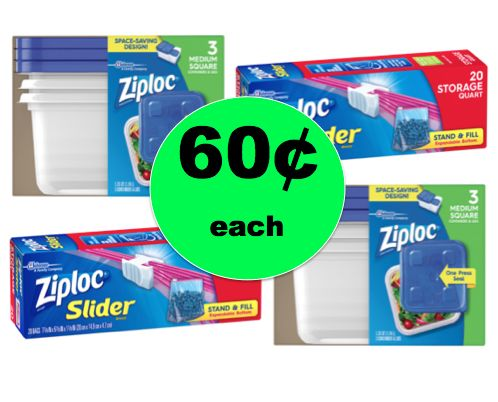 Pick Up 60¢ Ziploc Bags or Containers at Walgreens! ~Starts Today!