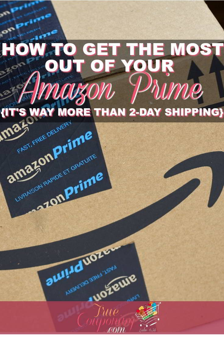 There's so much more to an Amazon Prime membership than 2-Day Free Shipping! Don't miss out on these other benefits that will save you money! #savingmoney #truecouponing