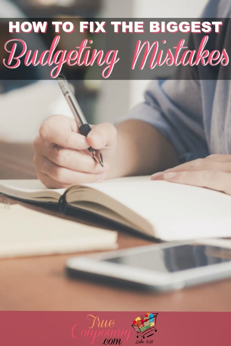 The reality of living on a budget can be pretty complicated. Avoid these mistakes so you can stick to your budget and be ahead of the curve. #truecouponing #budget #budgeting #savings #budgetfriendly