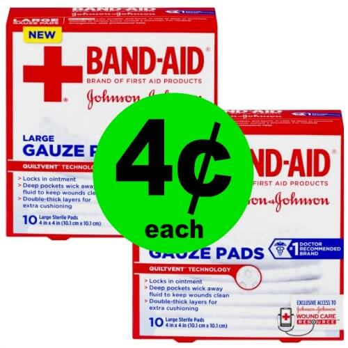 Protect The Wounds! Pick Up 4¢ Band-Aid Guaze Pads at Publix! (Ends 3/23)