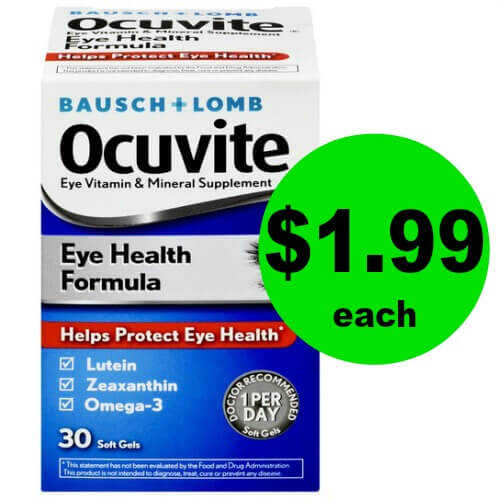 Grab Bausch + Lomb Ocuvite Eye Health Vitamins for $1.99 Each at Publix (Save $5)! (12/30 – 1/12)