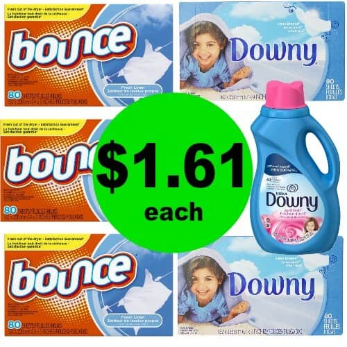 Freshen Up the Laundry! Snag Downy & Bounce Dryer Sheets for $1.61 Each at CVS! (12/31 – 1/6)