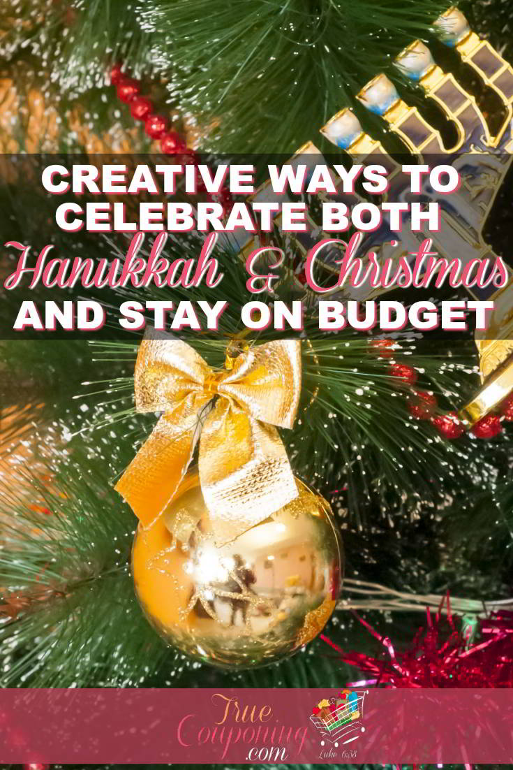 It is possible to celebrate both Hanukkah and Christmas WITHOUT blowing your holiday budget. Enjoy the season with less stress with these great tips! #truecouponing #christmas #hanukkah #celebrating #saving