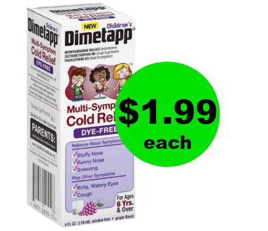 Beat That Cough & Cold! Snag Children's Dimetapp for $1.99 Each at CVS! (Save $6) Going On Now!