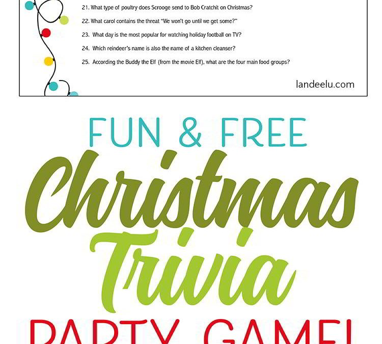 FREE Printable Christmas Trivia!
