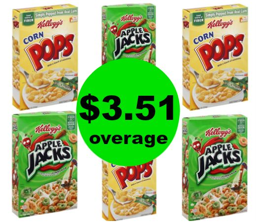 Breakfast is Solved! SIX (6!) FREE + $3.51 OVERAGE Corn Pops & Apple Jacks at Publix! ~ Ends Tues/Weds!