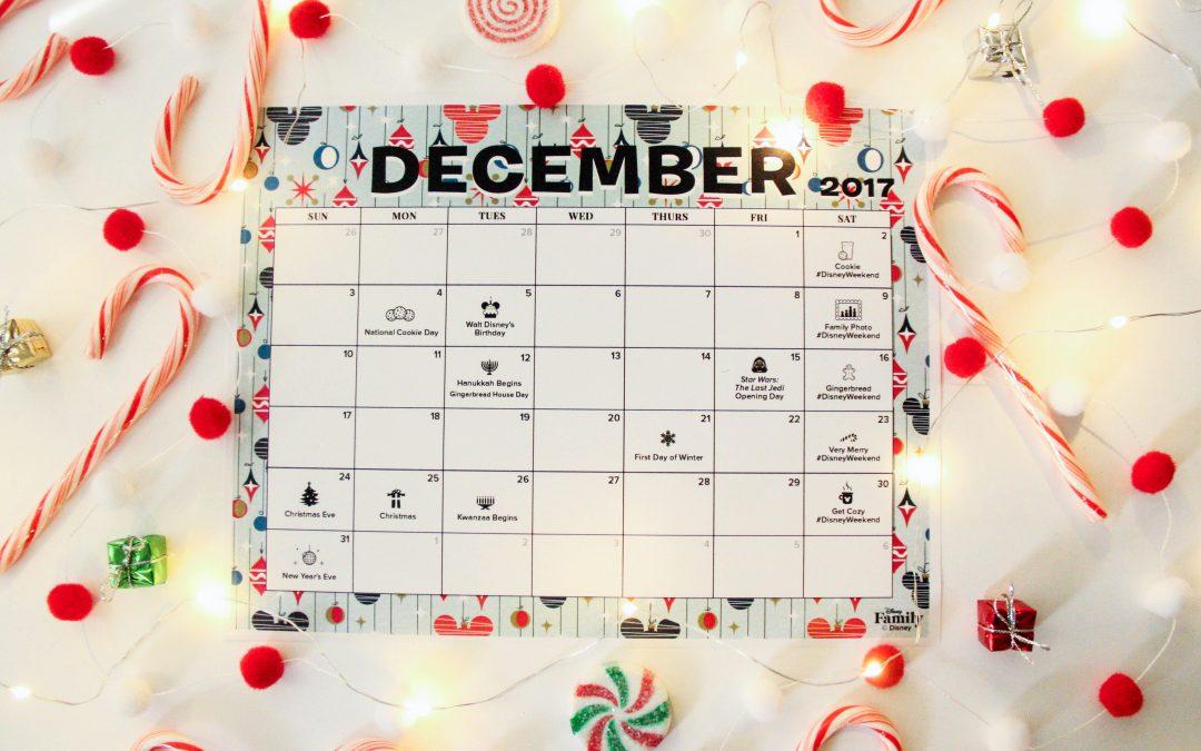 FREE Disney December Calendar!