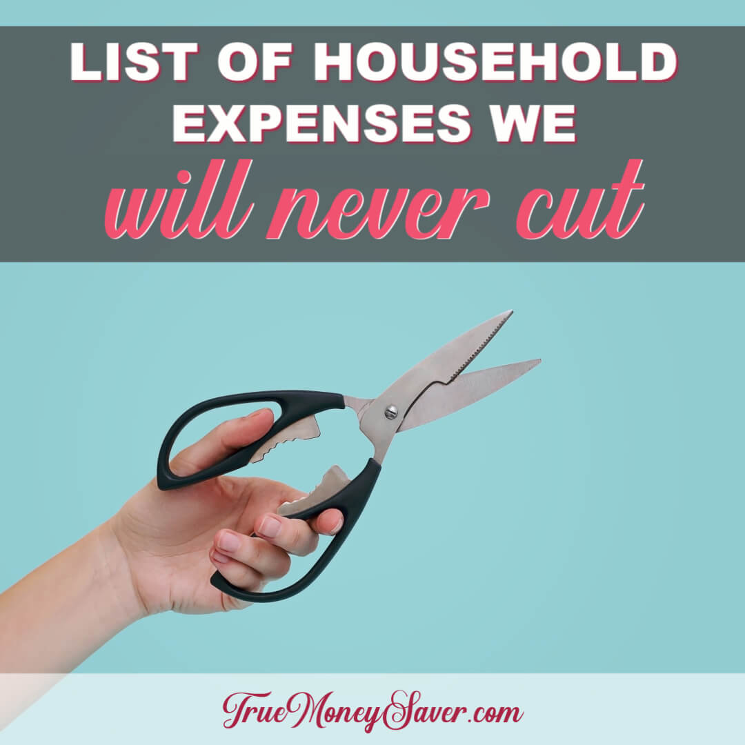 The Most Helpful List Of Household Expenses We Will Never Cut