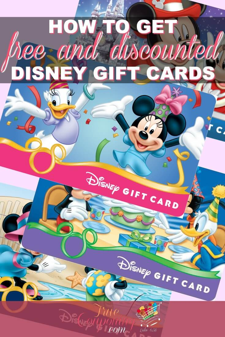 Ready to go to Disney but don\'t know how you are going to pay for it? You can save hundreds on your next vacation by earning free and discounted Disney gift cards! Here\'s how to get them for your family! #savings #disneyworld #couponcommunity #truecouponing #disney