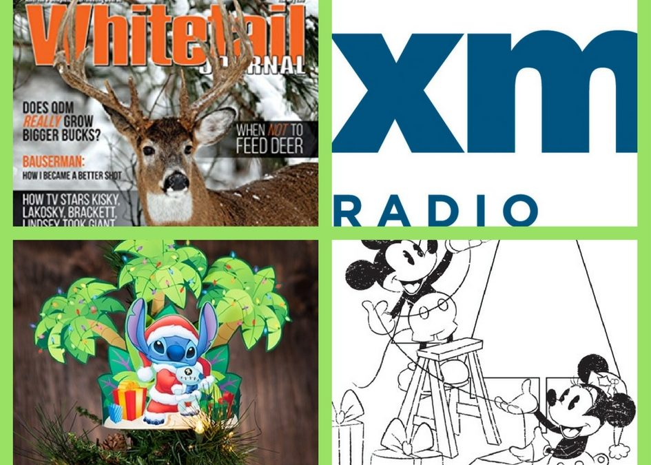 FOUR (4!) FREEbies: One Year Subscription to Whitetail Journal Magazine, SiriusXM, Disney Christmas Printables and Disney Christmas Coloring Pages!