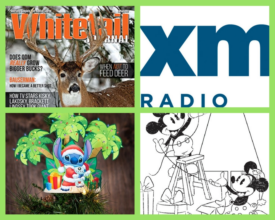 Four 4 freebies one year subscription to whitetail Coloring book subscription