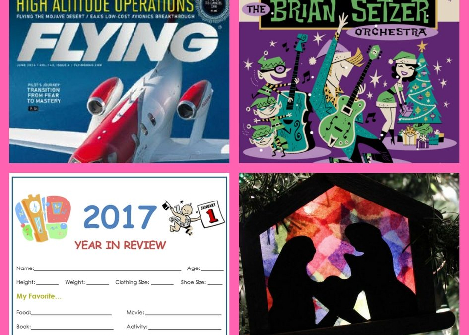FOUR (4!) FREEbies: One-Year Subscription to Flying Magazine, Christmas Album by Brian Setzer, 2017 Year in Review Printable and Nativity Christmas Ornament Craft!!