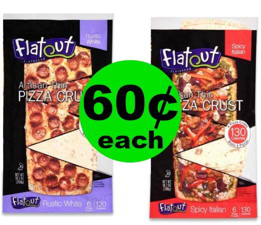 Don't Miss Out on Tasty 60¢ Flatout Flatbread Pizza Crusts at Publix (10¢ Per Crust)! (Ends 1/9 or 1/10)