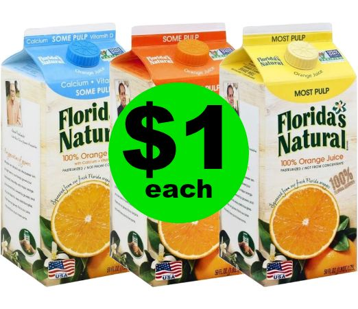 Don't Miss $1 Florida's Natural 100% Orange Juice at Publix! ~ Ends Tues/Weds!