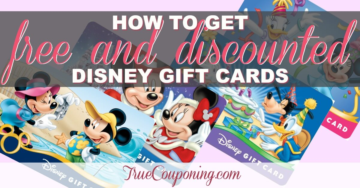 how to get free and discounted disney gift card for your vacation