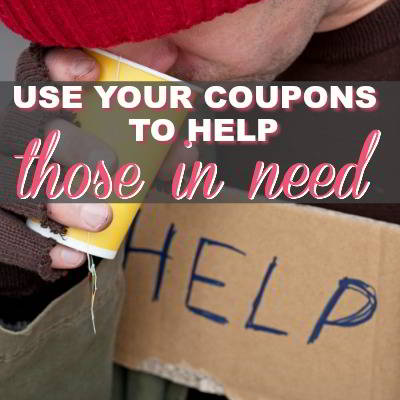 How To Use Coupons To Help Those In Need