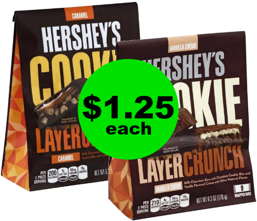 Chocolate Alert! Neb $1.25 Hershey's Cookie Layer Crunch Bags at CVS! ~ Ends Saturday!