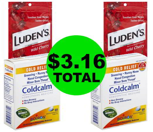 For Only $3.16 Total, Get TWO (2!) Boiron Coldcalm Packs & TWO (2!) Luden's Cough Drops at Publix! NOW!