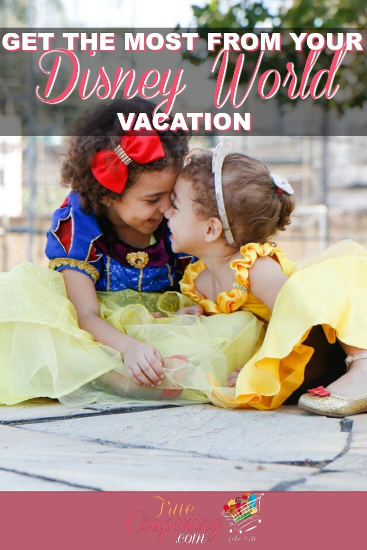 Your Disney World vacation is about so much more than just the rides and the parks. Get the most from your Disney vacation by following these tips! #disneyworld #disneyvacation #savingmoney #familyvacation #truecouponing