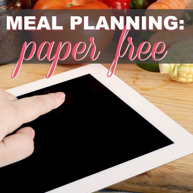 Meal Planning: Paper Free