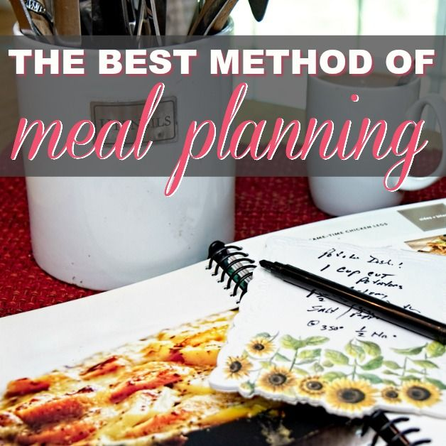The Best Method Of Meal Planning