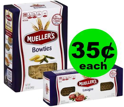 Stock Up on Pasta! Grab 35¢ Mueller's Pasta or Lasagna at Publix! ~ Starts Weds/Thurs!