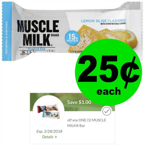 Pick Up 25¢ Muscle Milk Bar at Publix! (12/30 – 1/12)