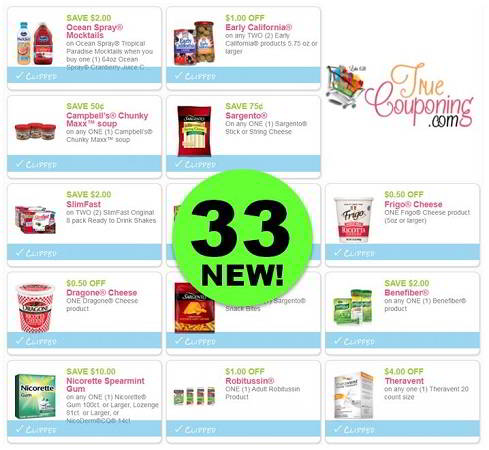 There's Thirty-Three (33!) **NEW** Coupons Out Right NOW! ~ Print, Print, Print!