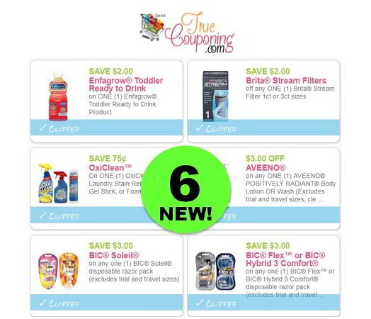 There's SIX (6!) **NEW** Coupons to Print Today for Enfagrow, Bic, Aveeno & More!