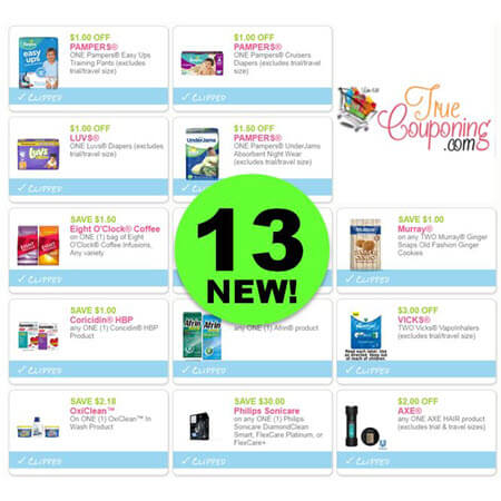 There's Thirteen (13!) NEW Coupons Out Today! Save on Axe, Pampers, OxiClean & More!