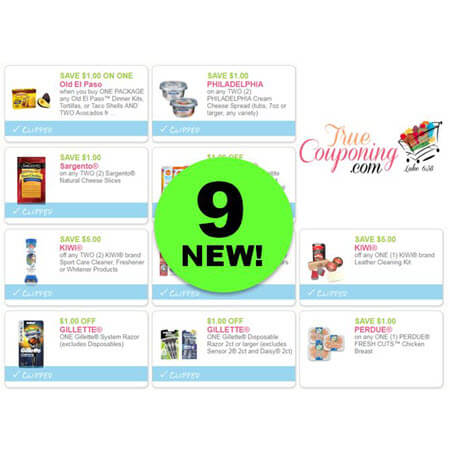 PRINT the NINE (9!) NEW Coupons Out This Week for Kiwi Cleaners, Old El Paso, Gillette & More!