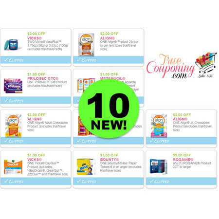 LOOK! There's TEN (10!) NEW Coupons Out Today! Save on Vicks, Align, Bounty & More!