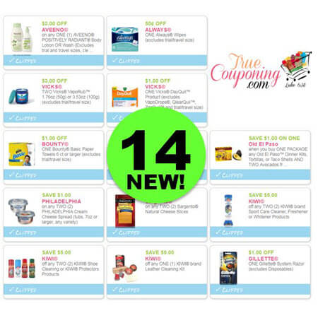 PRINT the Fourteen (14!) NEW Coupons That Came Out This Week!