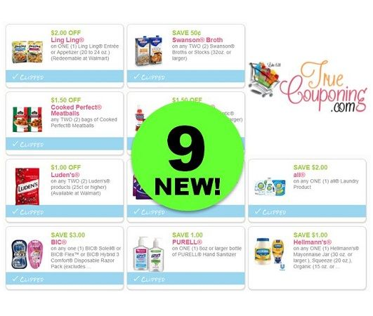 NINE (9!) **NEW** Coupons for Purell, Bic, All Detergent & More! ~ Print Now!